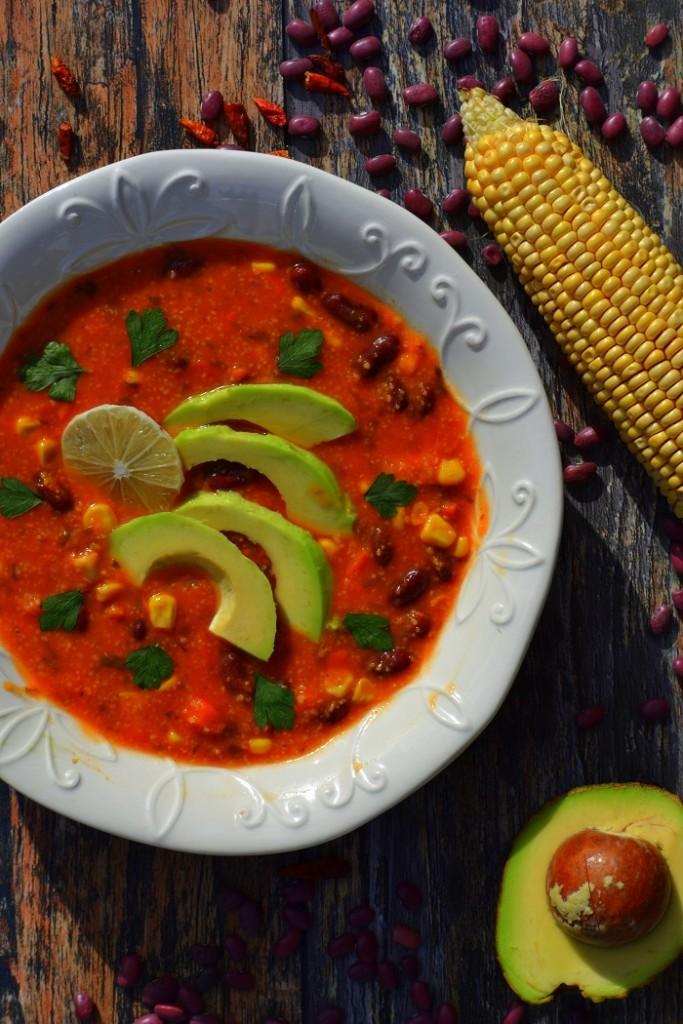 Zupa W Meksykańskim Stylu Weganonpl